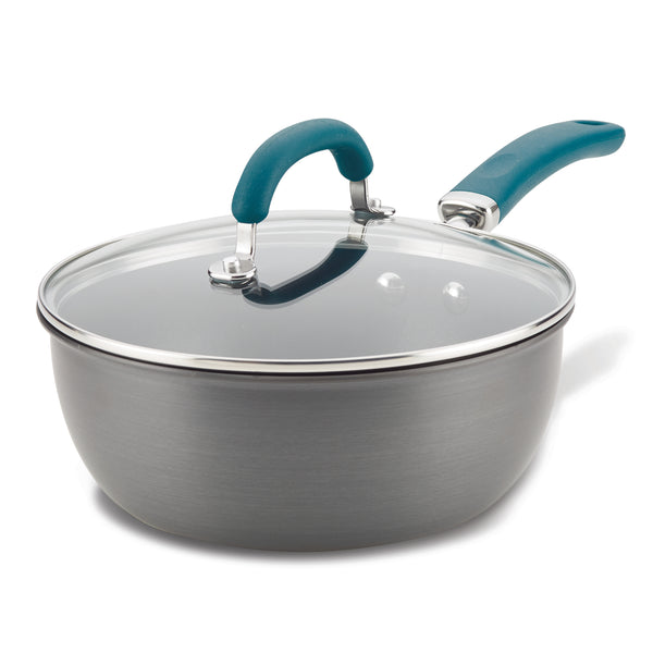Create Delicious Hard Anodized 3-Quart Covered Saucier