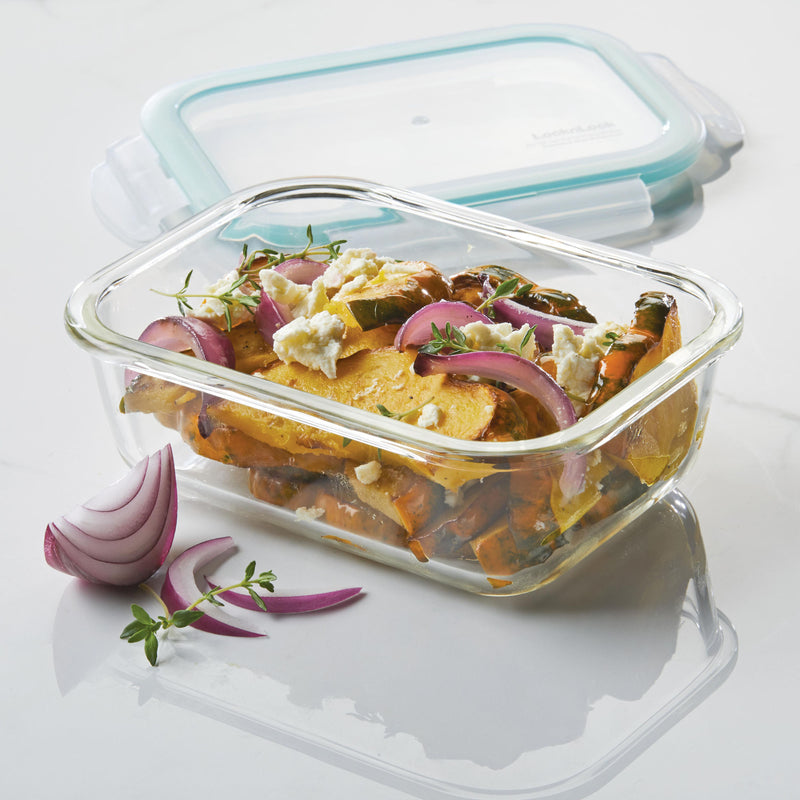 Purely Better™ Glass 4-Piece 21-Oz. Rectangular Container Set