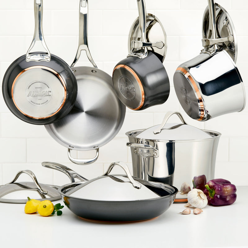 Nouvelle Copper Mixed Metals 11-Piece Cookware Set