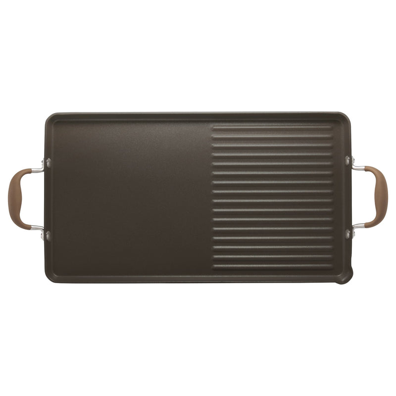 "Advanced 10"" x 18' Double Burner Griddle and Grill Pan"