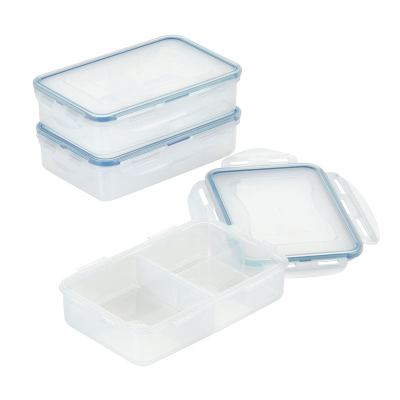 Divided Rectangular Food Storage Container Set