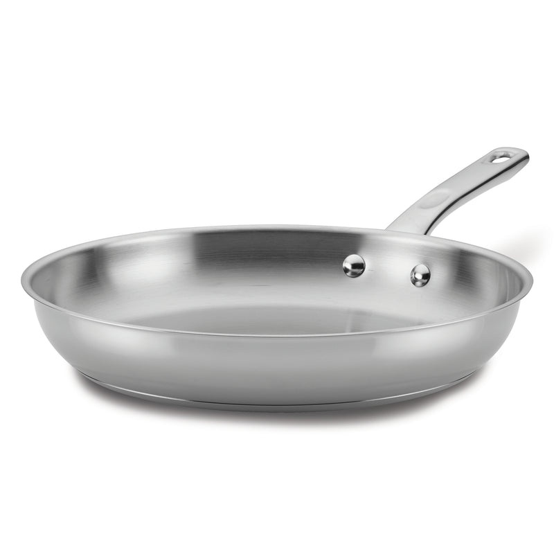 12.5-Inch Stainless Steel Frying Pan