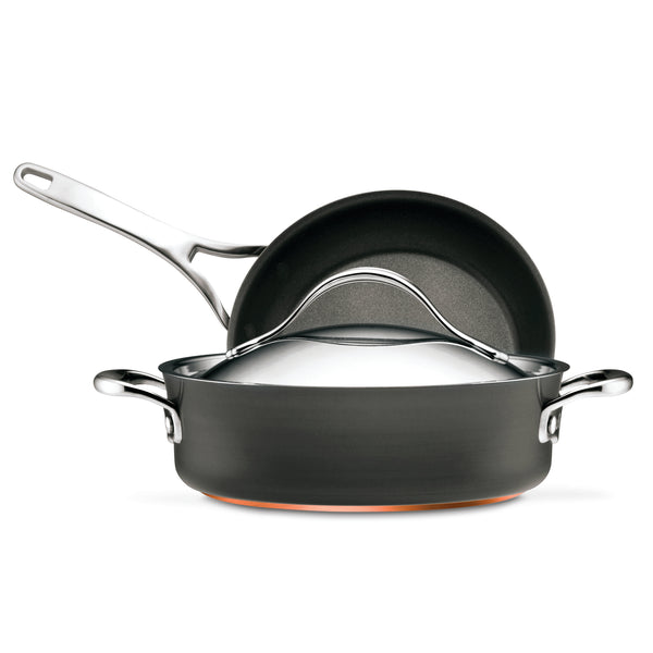 Nouvelle Copper 3-Piece Cookware Set