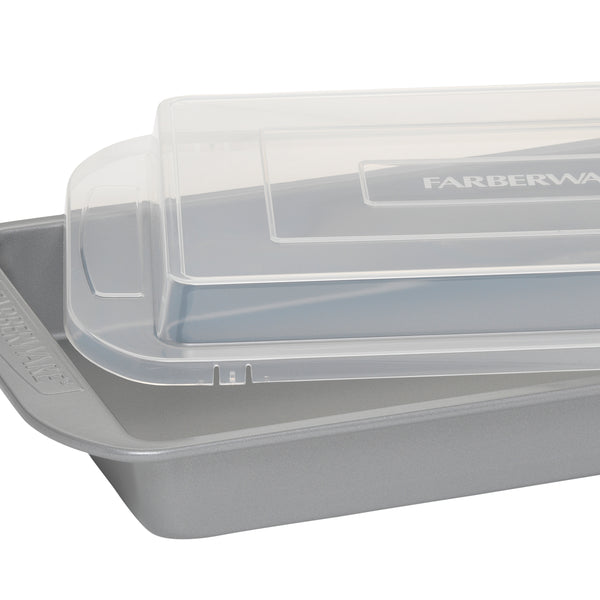 "9"" x 13"" Rectangular Cake Pan with Lid"