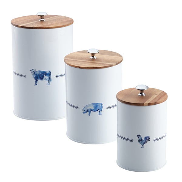 Country Barnyard 3-Piece Canister Set