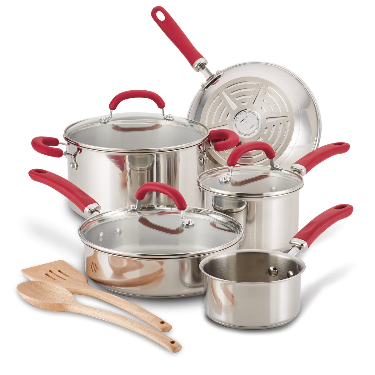 Create Delicious Stainless Steel 10-Piece Cookware Set