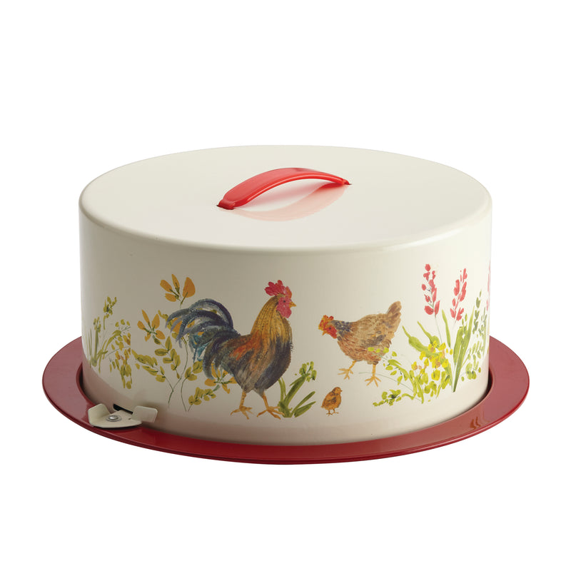 Garden Rooster Pie and Cake Carrier