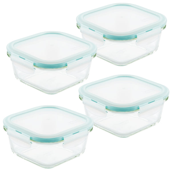Purely Better™ Glass 4-Piece 17-Oz. Square Container Set