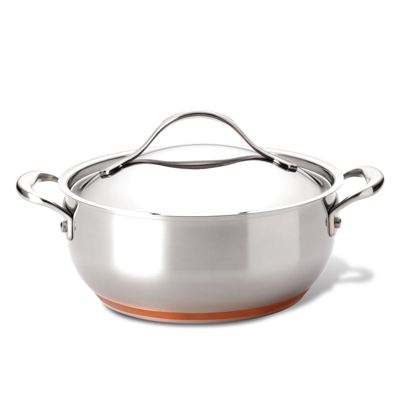 Nouvelle Copper Stainless Steel 4-Quart Chef Casserole
