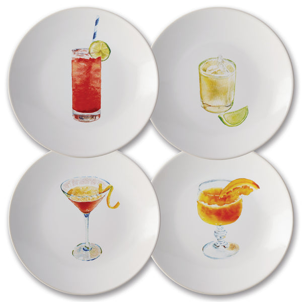 4-Piece Cocktail Party Plate Set