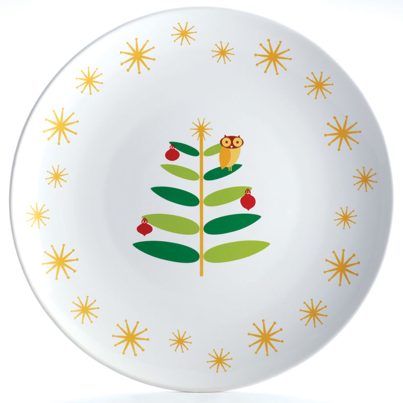 Holiday Hoot 14-Inch Round Serving Platter