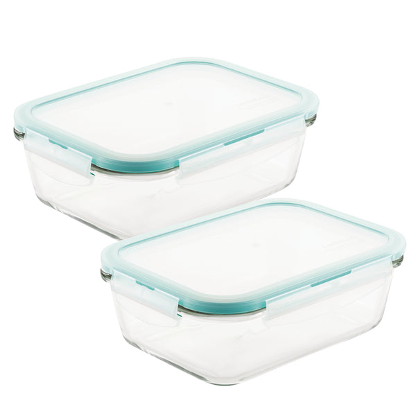 Purely Better™ Glass 2-Piece 34-Oz. Rectangular Container Set