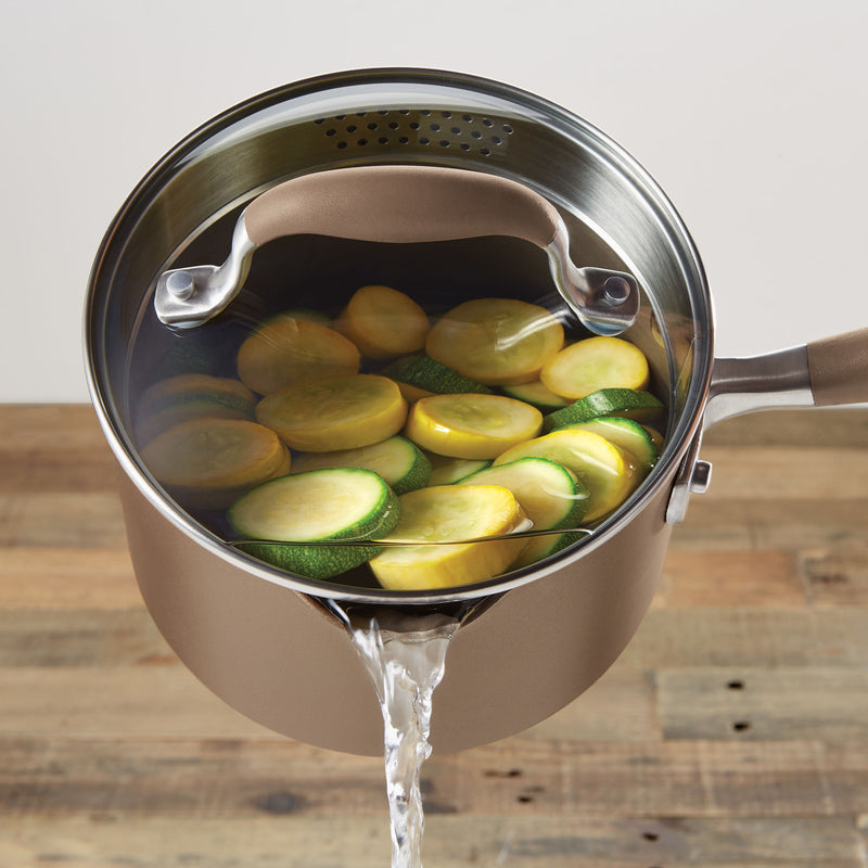 Advanced 2-Quart Straining Saucepan