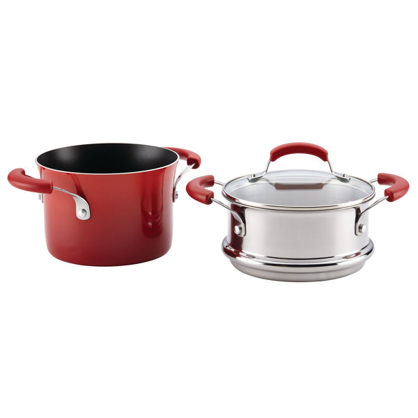 Classic Brights 3-Quart Covered Steamer Set