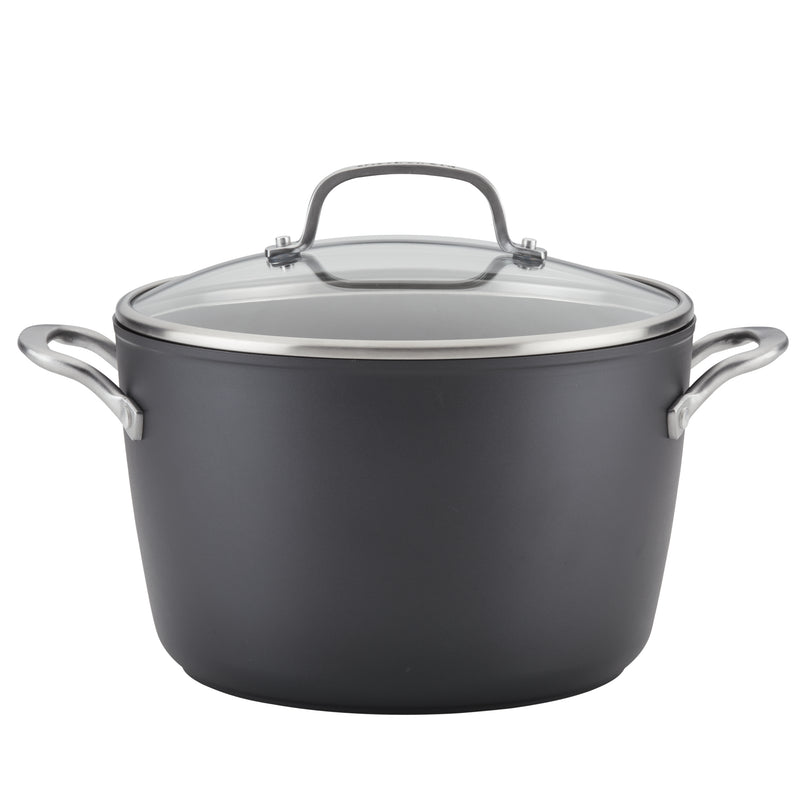 Hard-Anodized Induction 8-Quart Stockpot with Lid