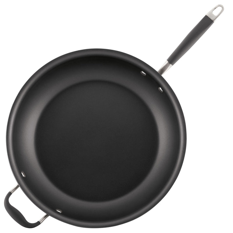 Advanced 14-Inch Frying Pan with Helper Handle