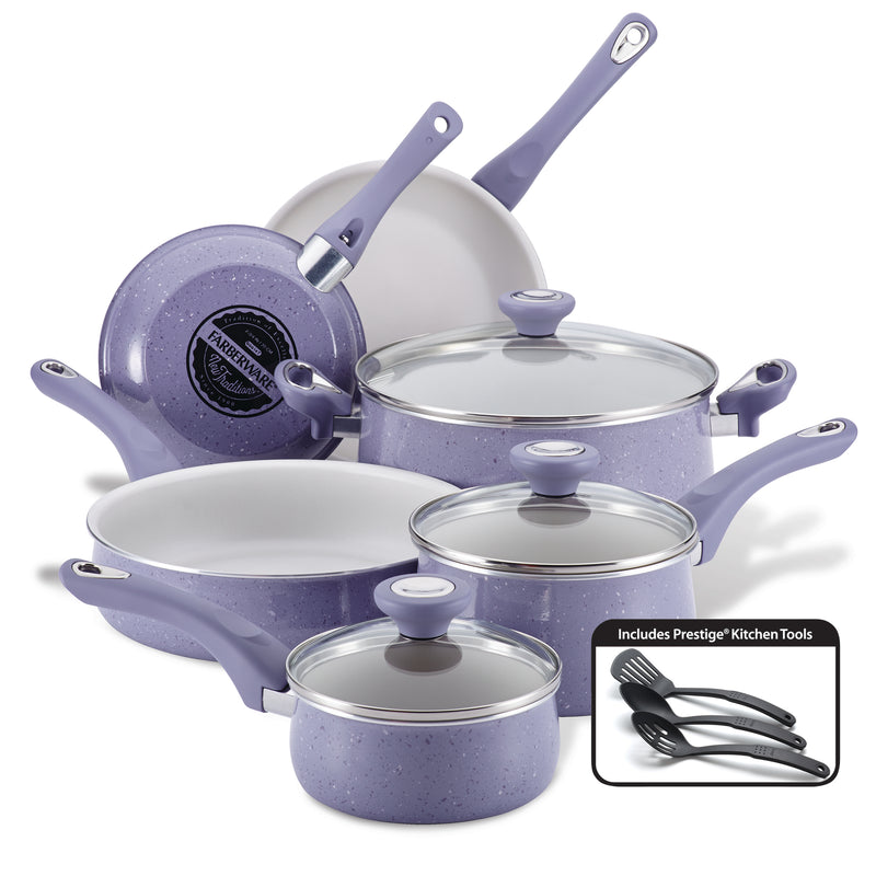 New Traditions Speckled 12-Piece Nonstick Cookware Set