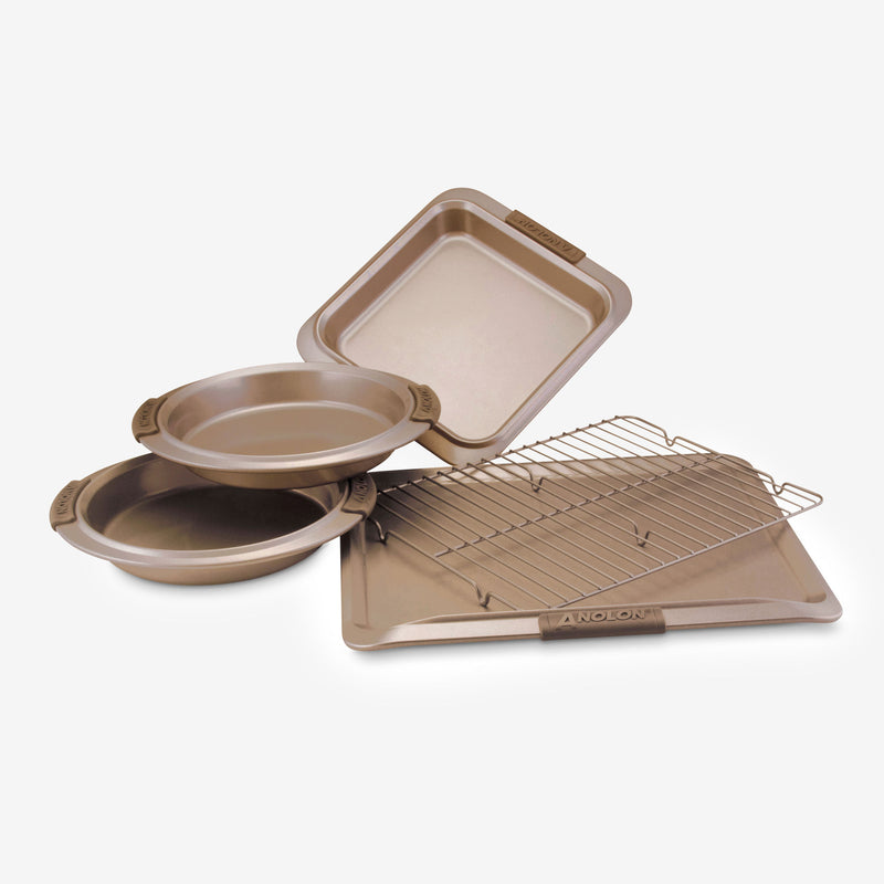 Advanced 5-Piece Bakeware Set with Silicone Grips