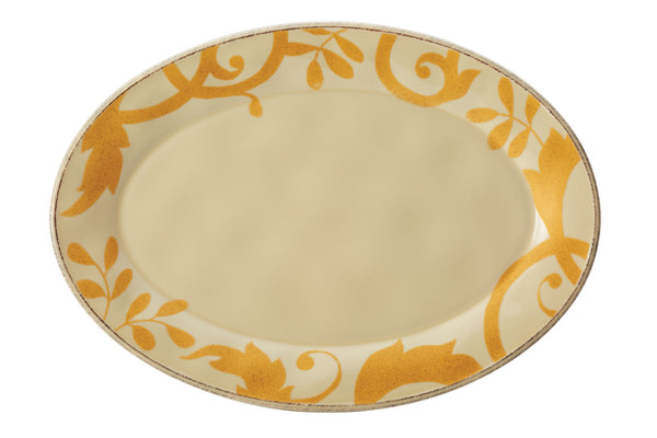 Gold Scroll 12.5-Inch Round Platter