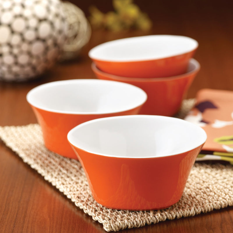 Round and Square 4-Piece 4.75-Inch Fruit Bowls Set