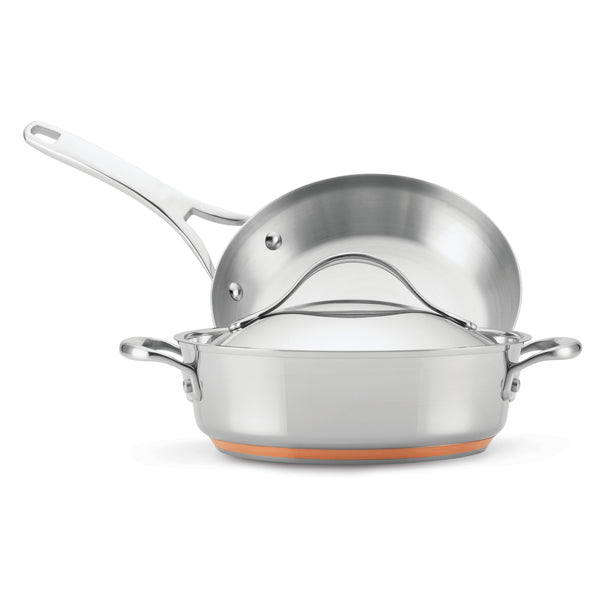Nouvelle Stainless 3-Piece Cookware Set