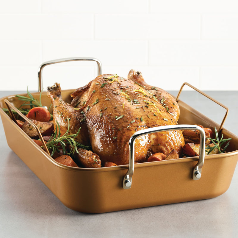 11-Inch x 15-Inch Nonstick Roaster with Rack