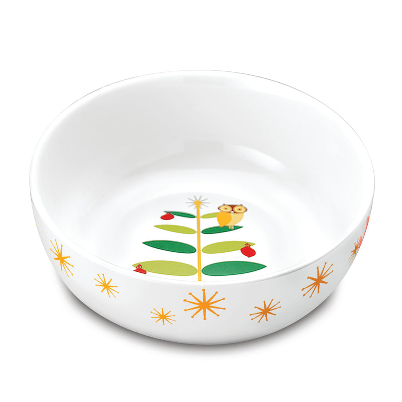 Holiday Hoot 10-Inch Serving Bowl
