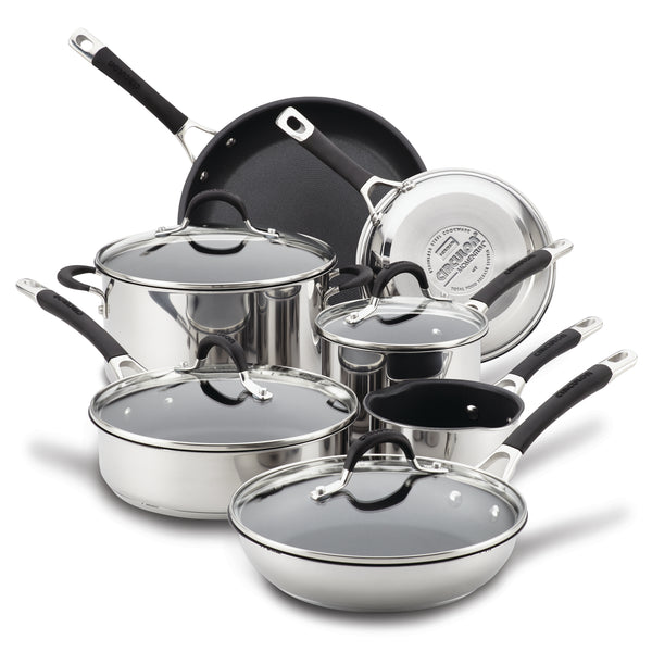 Momentum Stainless Steel 11-Piece Nonstick Cookware Set