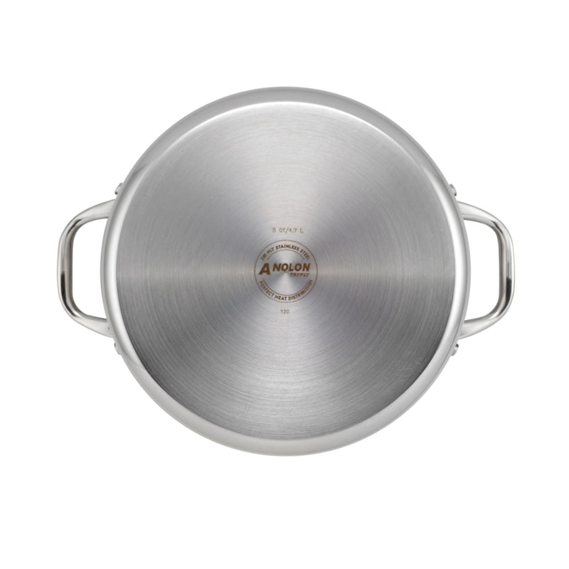 Tri-Ply Clad 3.5-Quart Saucepot with Lid