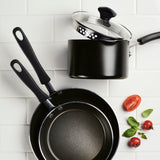 Cookstart Covered Straining Saucepan