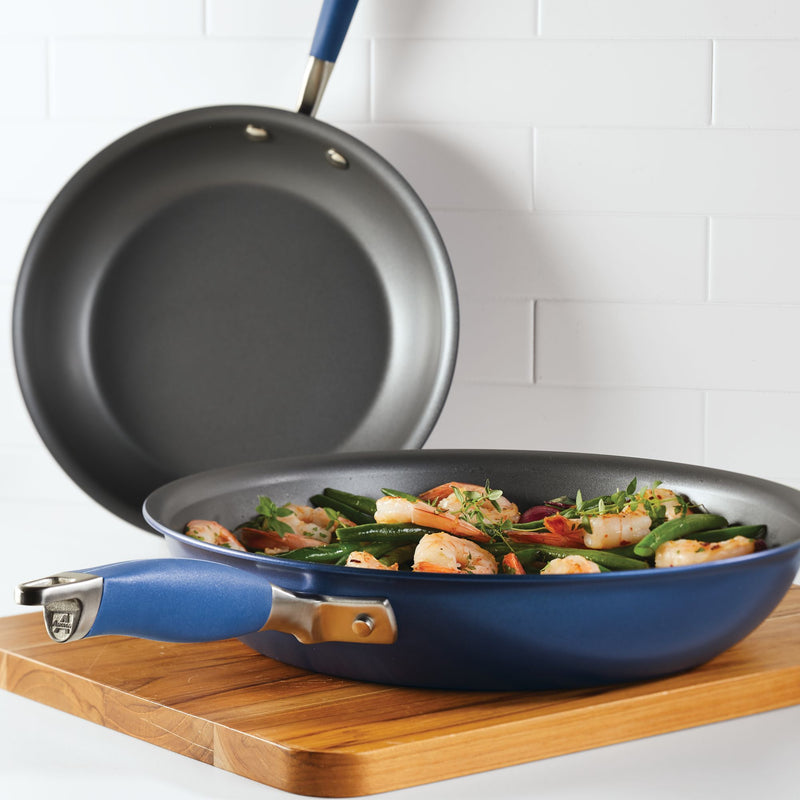 "Advanced Home 10.25"" & 12.75"" Frying Pan Set"