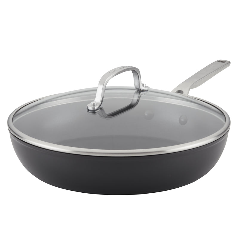 Hard-Anodized Induction Nonstick Frying Pan with Lid