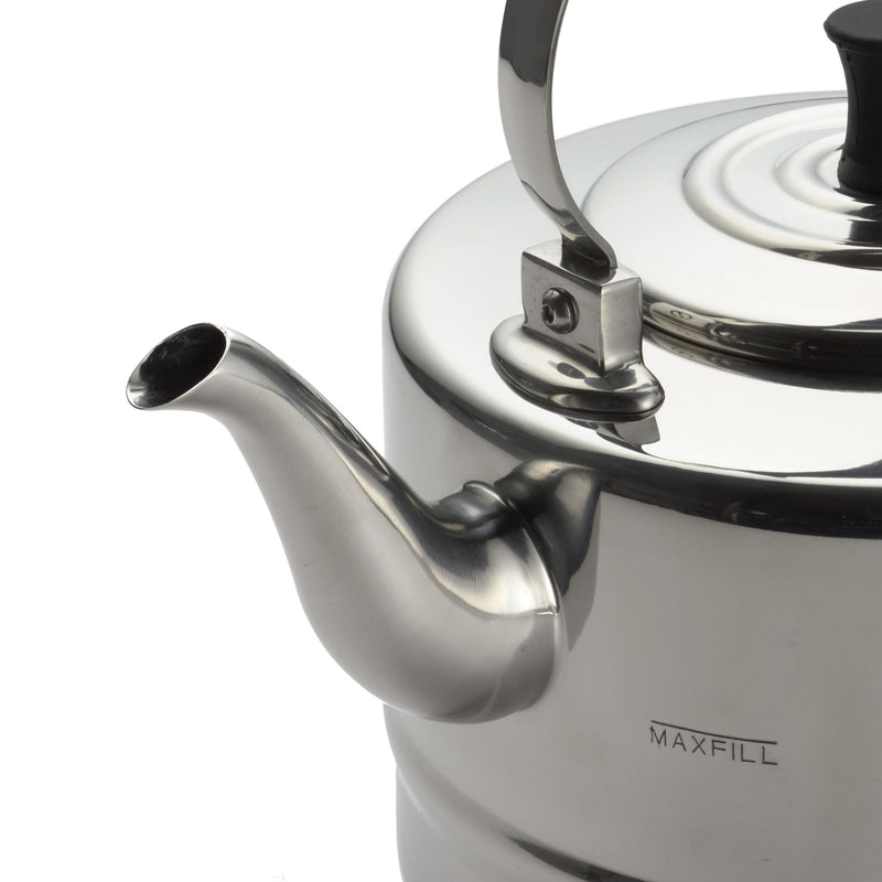 2-Quart Polished Stainless Steel Teakettle