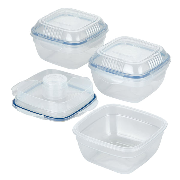 Easy Essentials 2-Piece 32-Oz. Salad Bowl with Tray Set