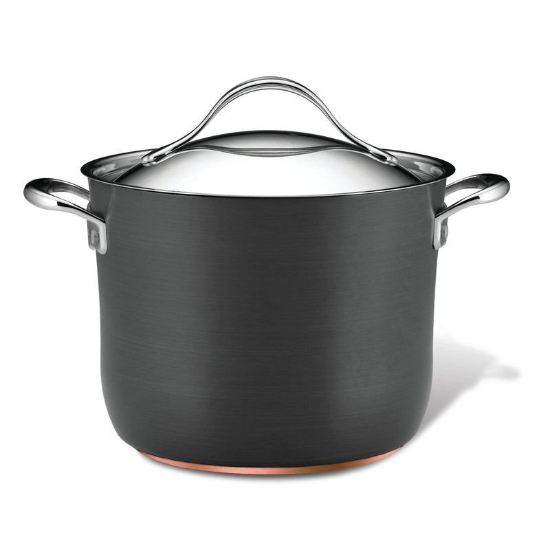 Nouvelle Copper 8-Quart Stockpot with Lid
