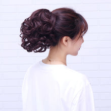 Load image into Gallery viewer, Horsetail short curly hair clip type big wave curly hair ponytail natural realistic fake ponytail strap wig