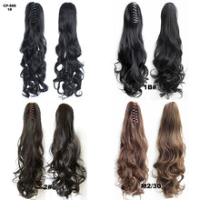 Load image into Gallery viewer, an and American wig female wholesale factory direct high temperature silk claw clip curly hair pony tail big wave tiger claw roll pony tail