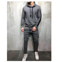 Load image into Gallery viewer, Zipper Tracksuit 2 Pieces Sweatsuit Hooded