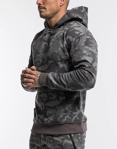 Mens Sports Suits Male Set Jogging Clothing Ropa De Marca Chandal Casual Hoodie Set Camouflage Big Pocket Cotton Tracksuit