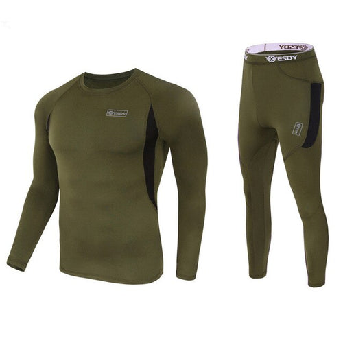 Warm Underwear Sets Military Compression Underwear