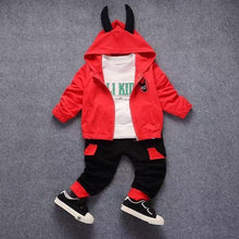 Load image into Gallery viewer, Clothing Sets Donald Duck Hooded Coat+Tshirt+Pant 3pcs