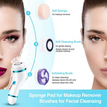 Load image into Gallery viewer, 4 In 1 Ultrasonic Electric Facial Cleansing Brush Massager
