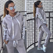 Load image into Gallery viewer, Hooded Sweatshirt And Pant Tracksuit