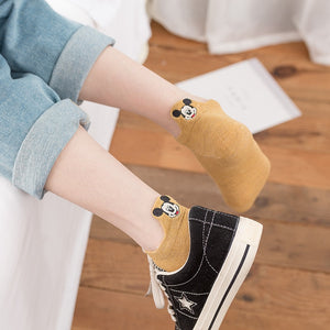 5 Pairs Mickey Mouse Ankle Socks