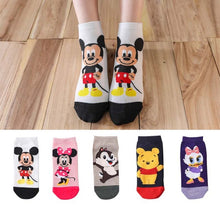 Load image into Gallery viewer, 5 Pairs Mickey Mouse Ankle Socks