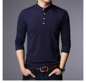 Hot Polo Shirt Long Sleeve Slim Fit