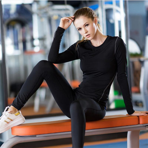 Women Fitness Stretch Top Long Sleeve