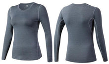 Load image into Gallery viewer, Women Fitness Stretch Top Long Sleeve