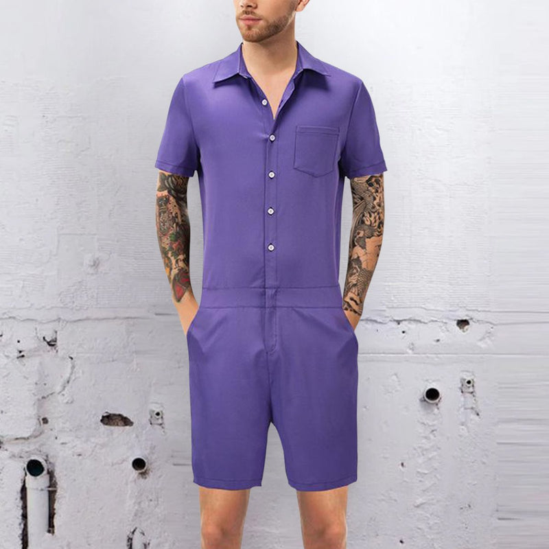 Casual Summer Short-Sleeved Home Service Jumpsuit
