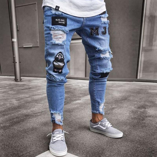 Men's hip hop slim pants pants